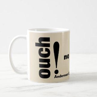 Chiropractie sans plus aïe typographie mug