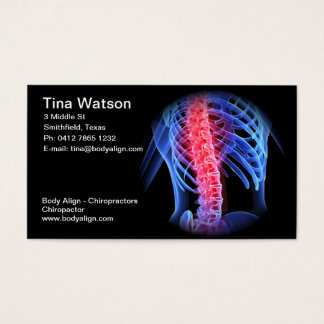 Chiropractor business card