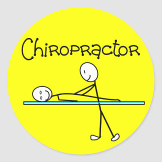 Chiropractor Gifts Round Sticker