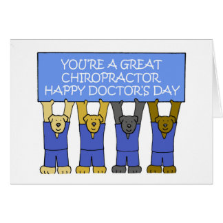 Chiropractor Happy Doctor's Day Card