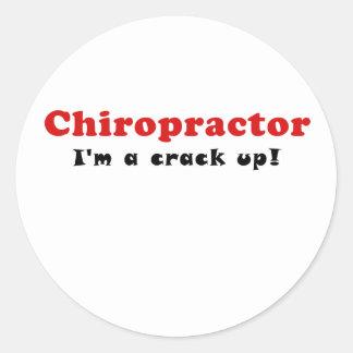 Chiropractor Im a Crack Up Round Sticker