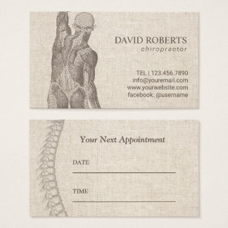 Chiropractor Massage Therapy Elegant Appointment Business Card
