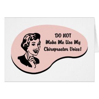 Chiropractor Voice Card