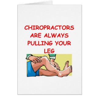 chiropractors card