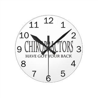 Chiropractors Have Got Your Back Clock