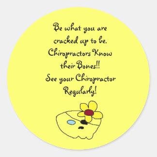 Chiropractors know their bones Sticker