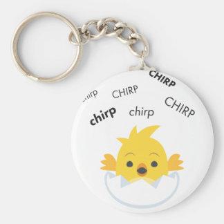 Chirp Hatching Chick Cute Emoji Keychain