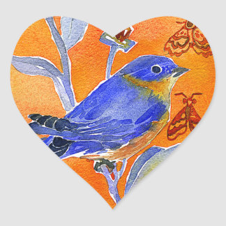 'Chirp' Heart Sticker