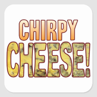 Chirpy Blue Cheese Square Sticker
