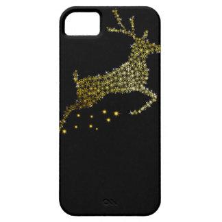 Chirstmas iPhone Case Golden Glitter Deer