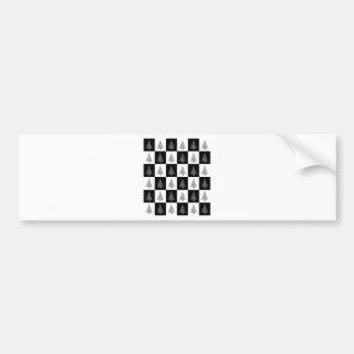 Chirstmas Tree Chess Bumper Sticker