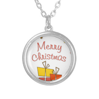 Chirtsmas 7 silver plated necklace