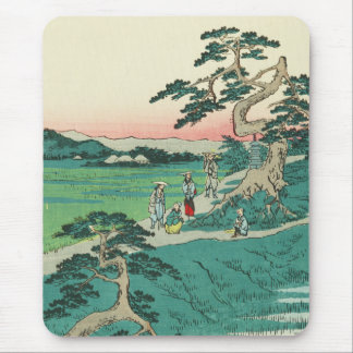 Chiryuu, Japan: Vintage Ukiyo-e Woodblock Print Mouse Pad