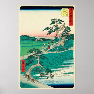 Chiryuu, Japan: Vintage Woodblock Print