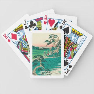 Chiryuu, Japan: Vintage Woodblock Print Bicycle Playing Cards