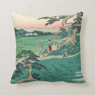 Chiryuu, Japan: Vintage Woodblock Print Throw Pillow