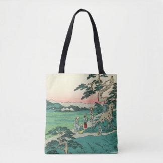 Chiryuu, Japan: Vintage Woodblock Print Tote Bag