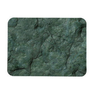Chiseled Gray Green Rock Flexible Magnets