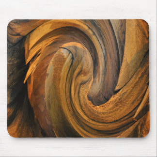 CHISELED WOOD MOUSE PAD