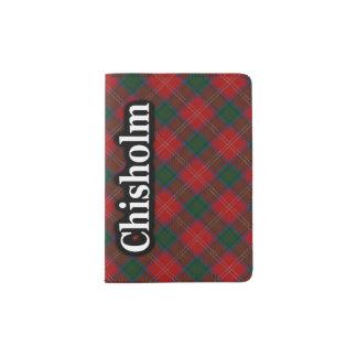 Chisholm Scottish Tartan Passport Holder