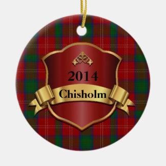 Chisholm Tartan Plaid Custom ornament