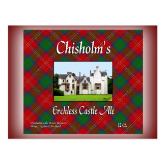 Chisholm's Erchless Castle Ale Postcard