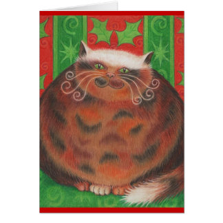 "Chistmas Pud ""Purrfect Christmas' grettings card"