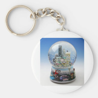 Chistmas Snow Globe Basic Round Button Keychain