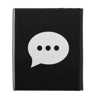 Chit-Chat Pictogram iPad Caseable Folio iPad Case