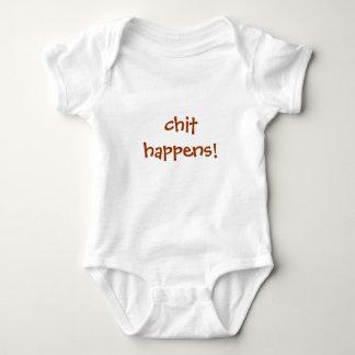 chit happens! baby bodysuit