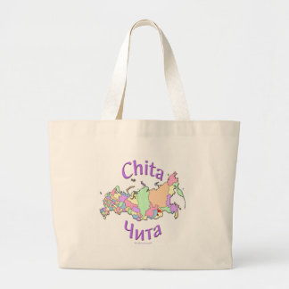 Chita Russia Map Large Tote Bag