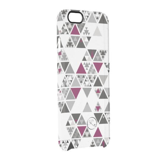 chitsanzo triangular- purple clear iPhone 6/6S case