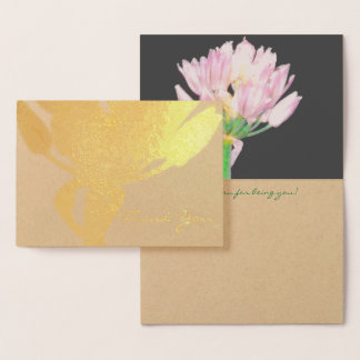 Chives Flower Foil Card
