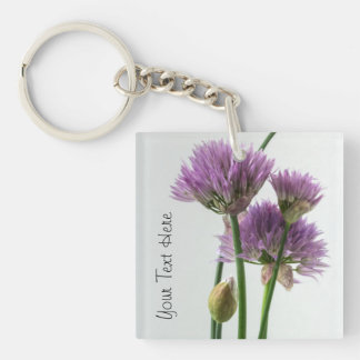 chives in bloom keychain