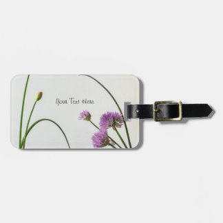 chives in bloom luggage tag
