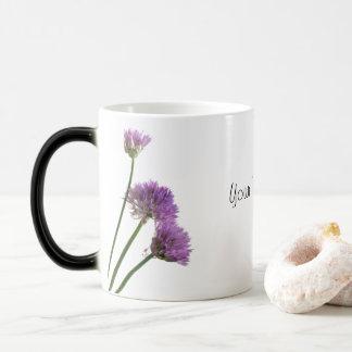 chives in bloom magic mug