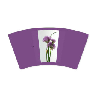 chives in bloom paper cup