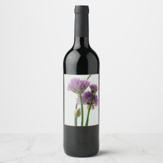 chives in bloom wine label
