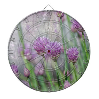 Chives in texture dartboard