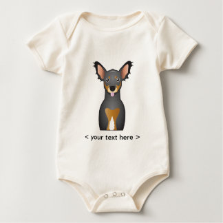Chiweenie Cartoon Personalized Baby Bodysuit