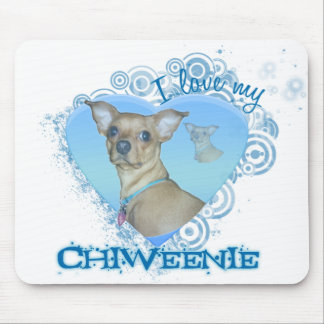 chiweenie mouse pad