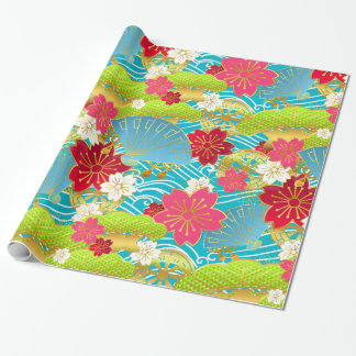 Chiyogami style Giftwrap Wrapping Paper