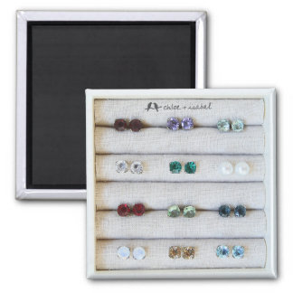 chloe and isabel birthstone stud magnet