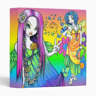 """""""Chloe & Harmony"""" Rainbow Hippie Fairy Binder"""
