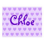 Chloe in Purple Postcards