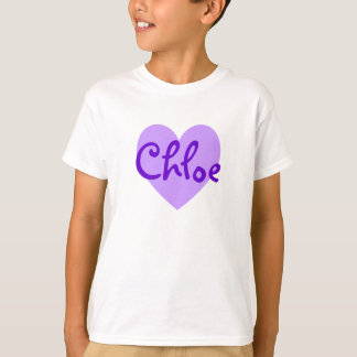 Chloe in Purple T-Shirt