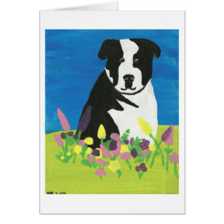 Chloe in the garden card