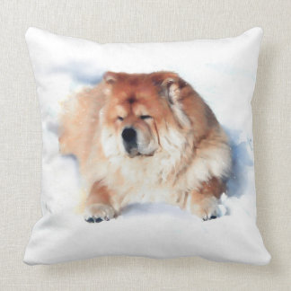 CHLOE IN THE SNOW  heARTdog 2 Side pillow