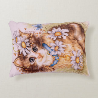 """Chloe"" Kitten pillow"