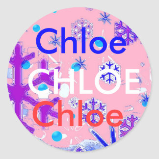 Chloe name stickers